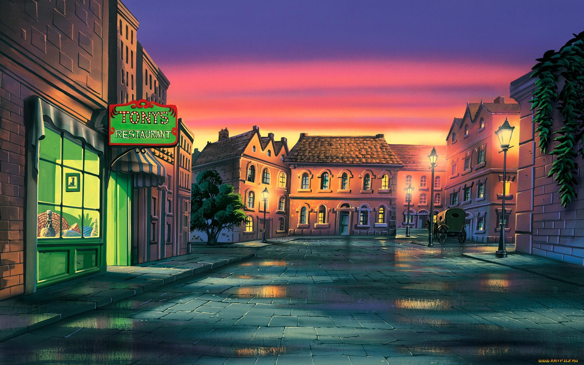 Город в мультике картинки
